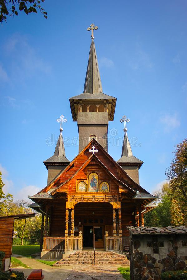 Free Wooden Church In Baile Felix Resort Stock Photos - 106694433