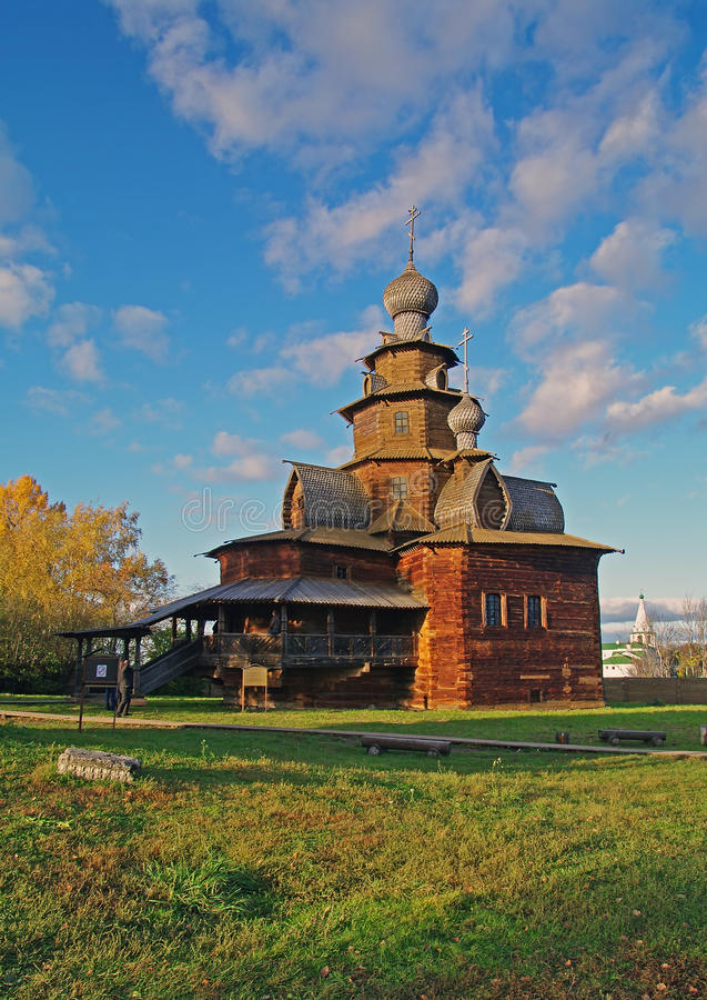 Free Wooden Church In The Suzdal Museum. Royalty Free Stock Photography - 11893227