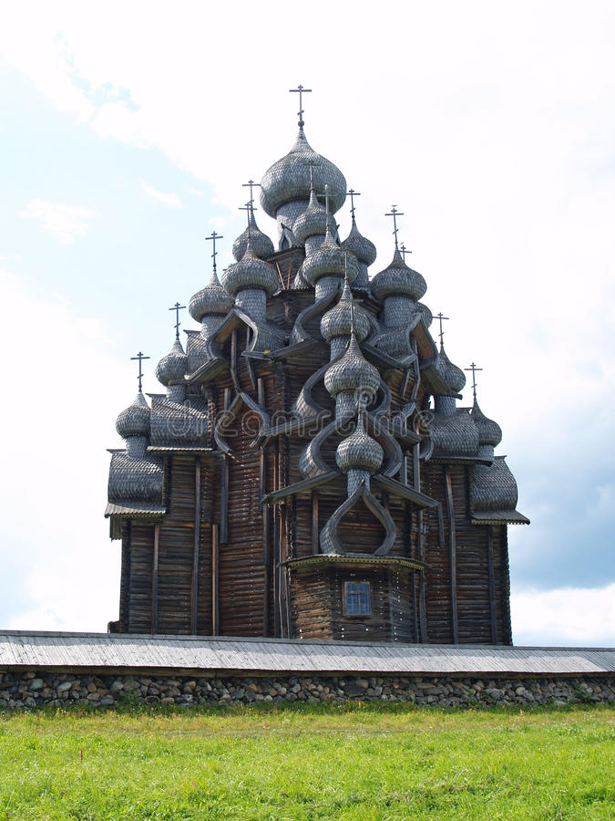 Download Wooden church in Kizhi stock image. Image of open, history - 10136723