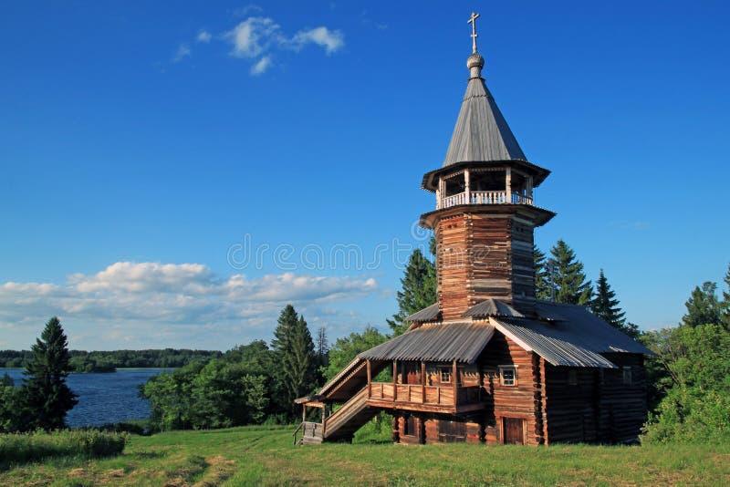 Wooden church on Kizhi island stock photography