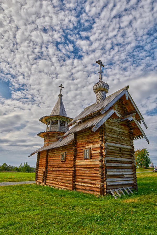 Wooden Church at Kizhi Island stock image