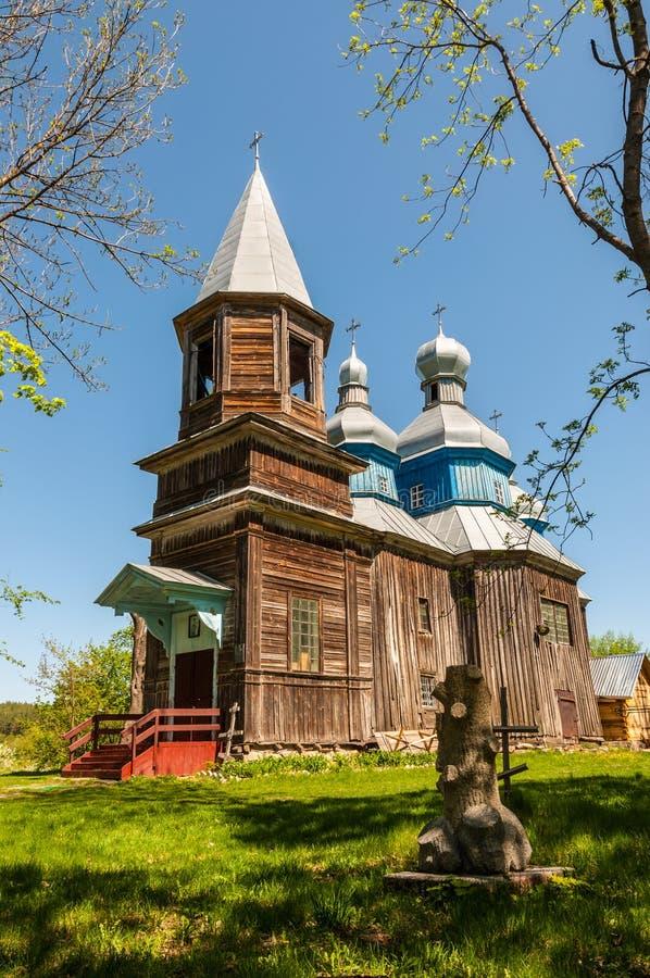 Wooden Church of the Nativity of the Virgin in Tulinci, Kyiv region, Ukraine royalty free stock photos