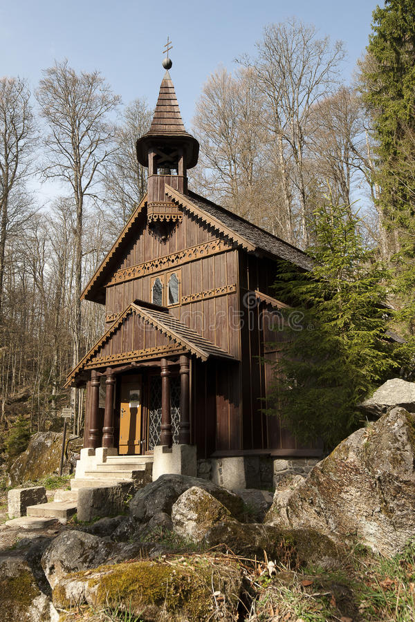 Wooden church. Old church near Beskydy Mountains. Czech Republic royalty free stock photography