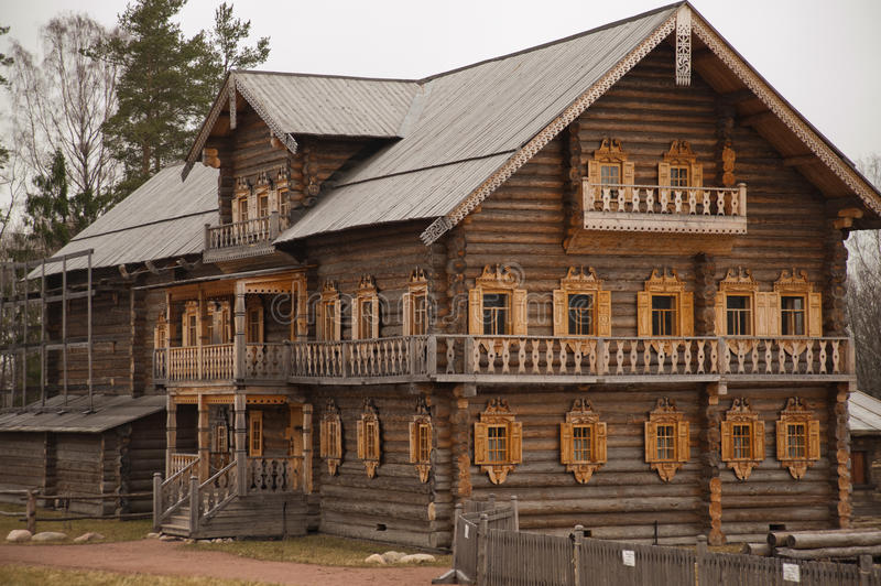 Wooden Church in Russia royalty free stock photo