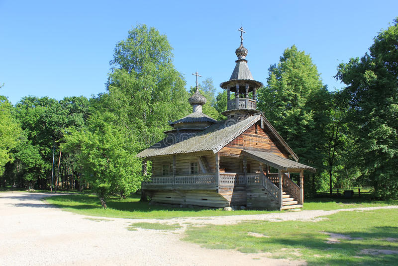 Wooden Church, Russia stock photo