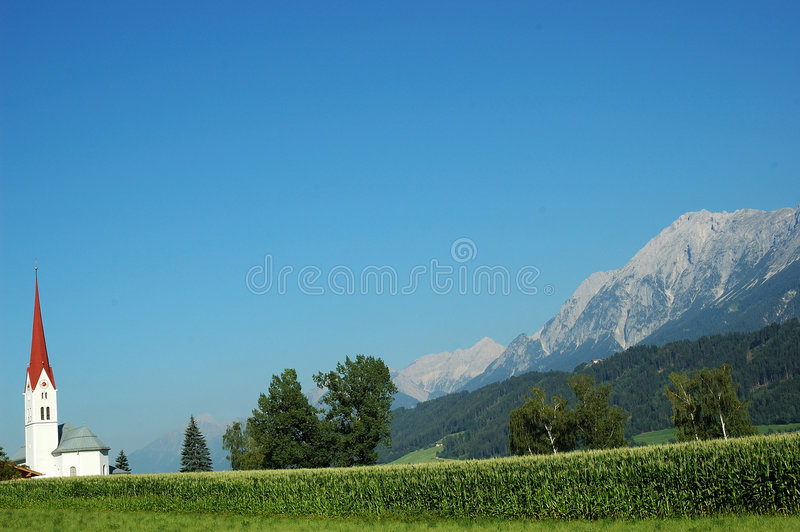 Wooden church - Tyrol scenery royalty free stock images
