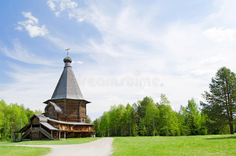 Wooden churches in the north Russia royalty free stock photos