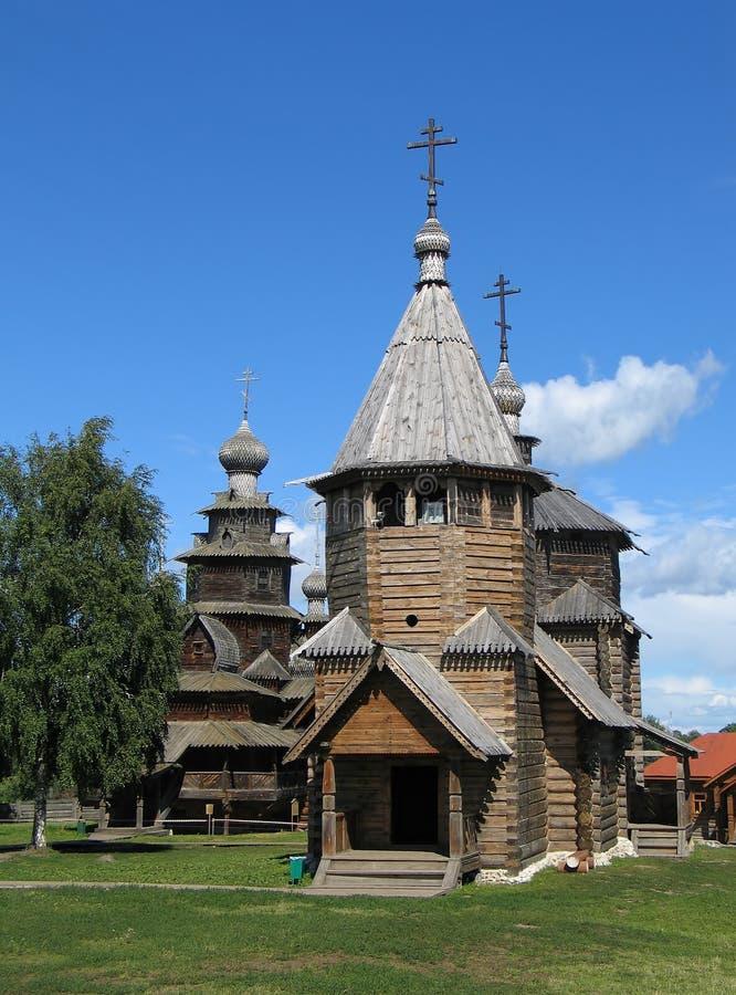 Wooden churches in Suzdal. stock photos