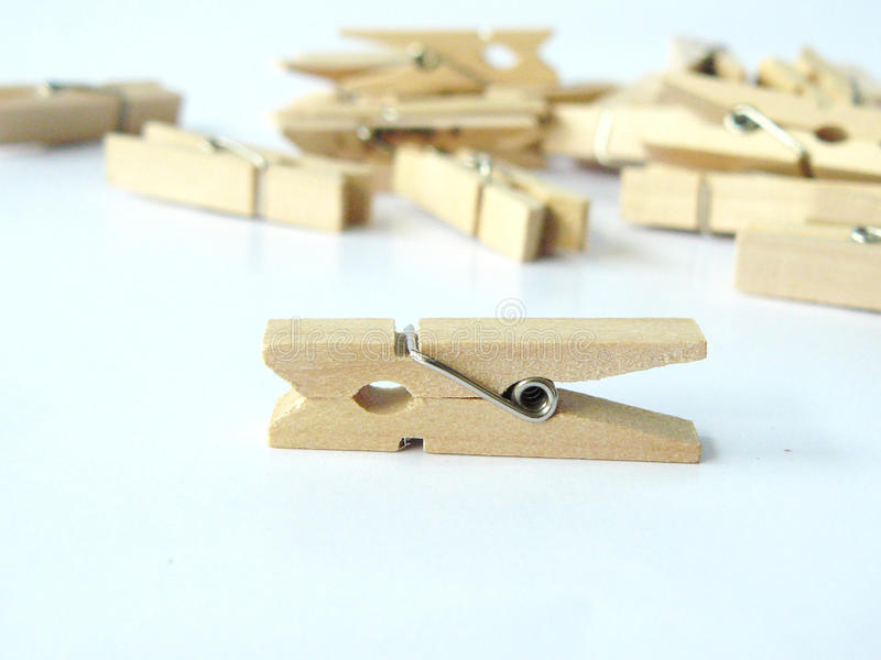 wooden clip royalty free stock photo