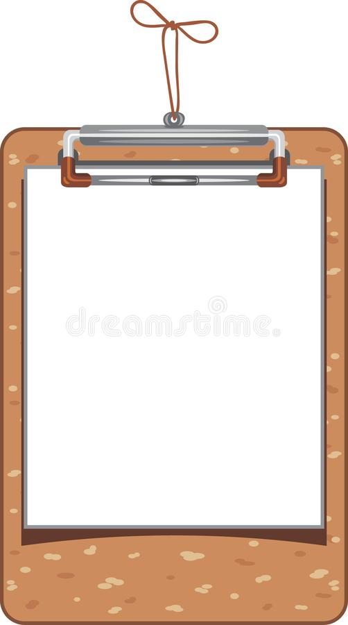 Wooden clipboard with paper sheet royalty free stock photos