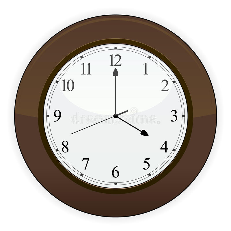 Wooden Clock EPS Royalty Free Stock Photos