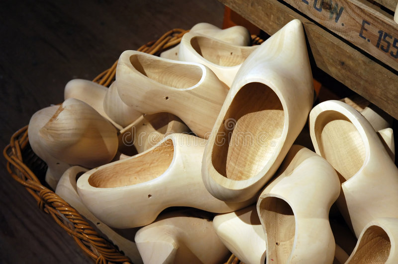 Wooden clogs royalty free stock image