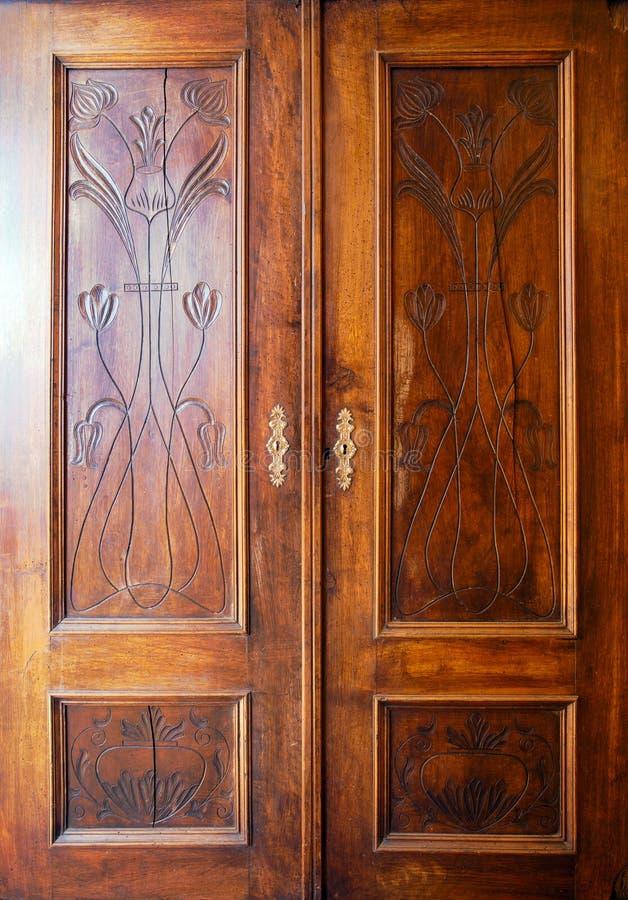 Wooden Closet Doors Stock Photo Image Of Cabinet Material 18922132