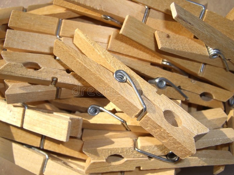 Download Wooden Clothes Pegs Royalty Free Stock Photos - Image: 6013348