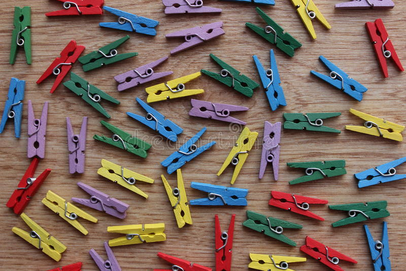 Wooden clothespins royalty free stock photography