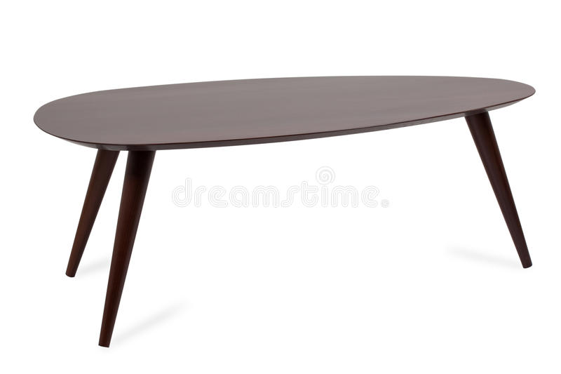 Wooden coffee table stock images