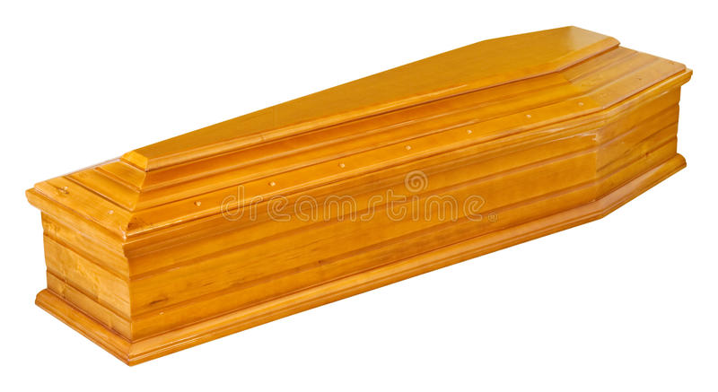 Wooden Coffin Stock Image