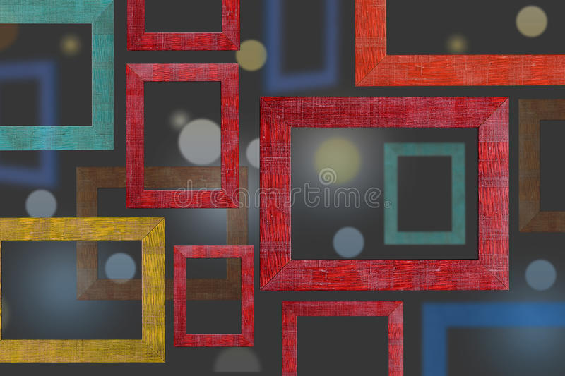 Wooden color frames background. royalty free stock photos