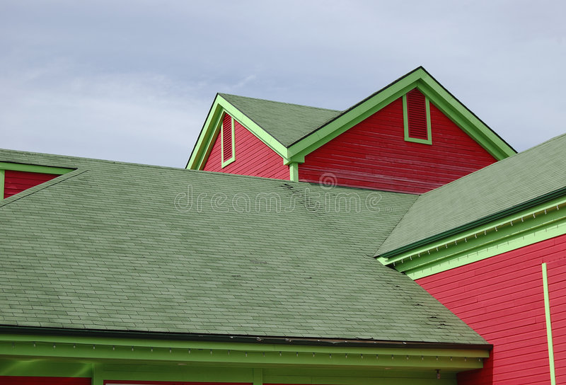 Wooden colorful house royalty free stock photography