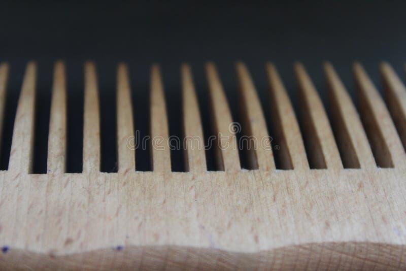 Wooden comb stock photo