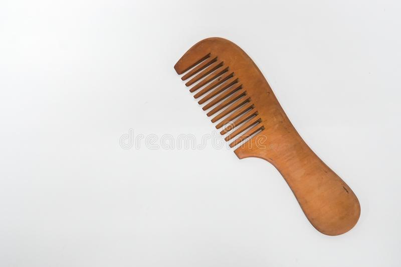 wooden comb for people hairstyle royalty free stock photos