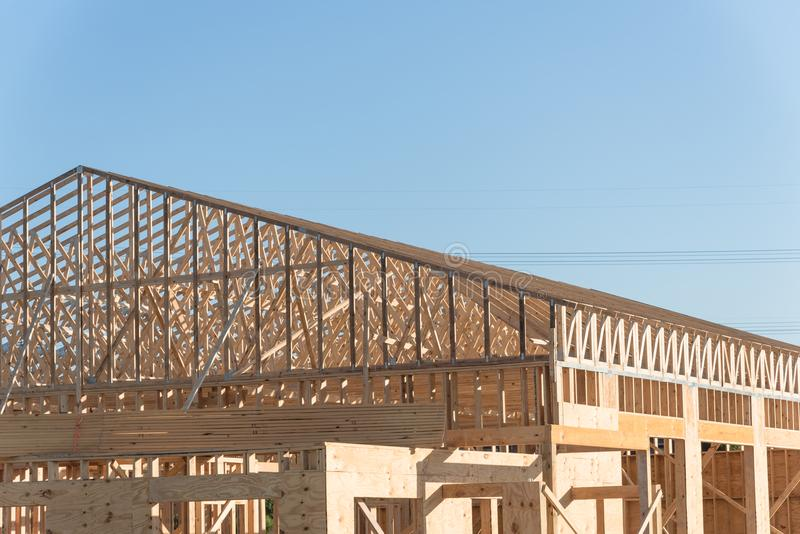 Wooden Commercial Building Construction Stock Image - Image of ...