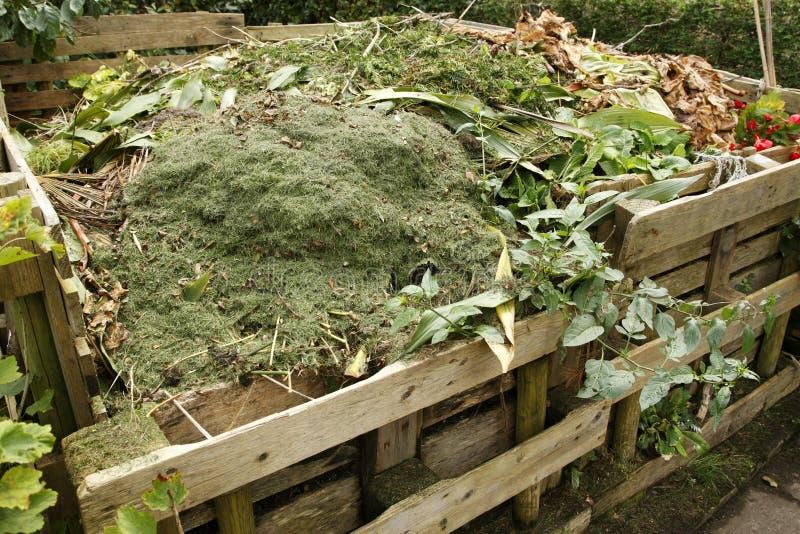Wooden compost bin. Kings heath park birmingham west midlands uk royalty free stock photography