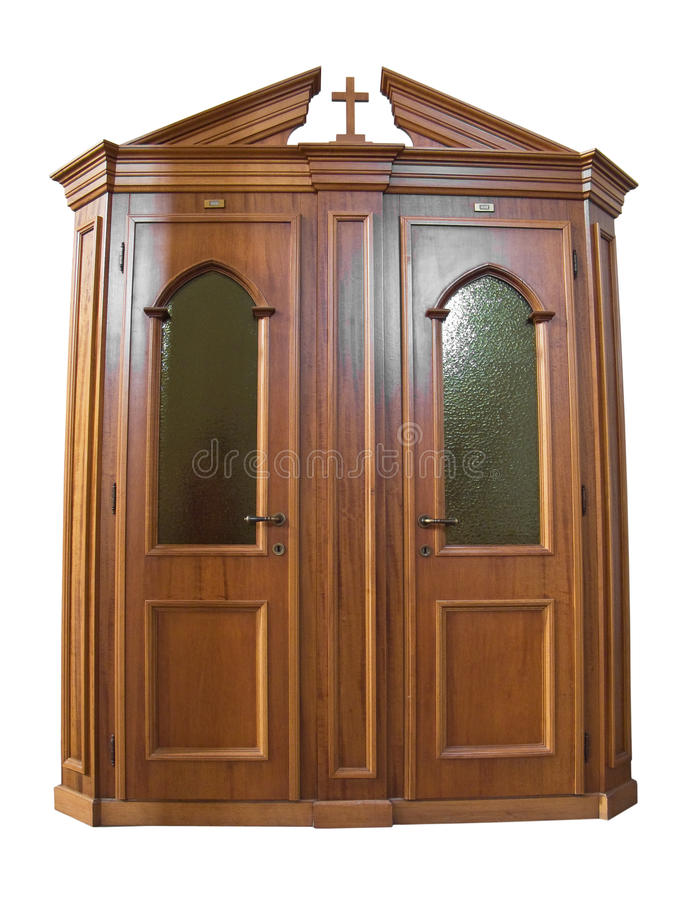 Free Wooden Confessional. Stock Images - 13901304