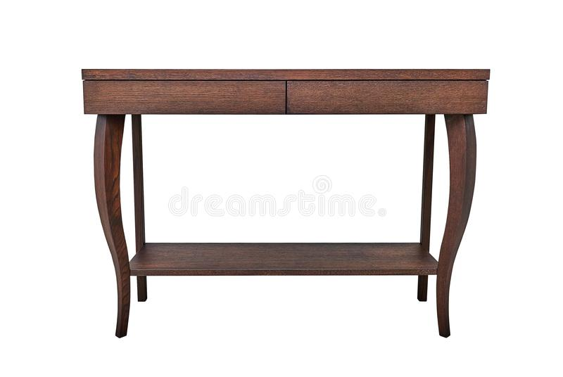 Wooden console table royalty free stock photo