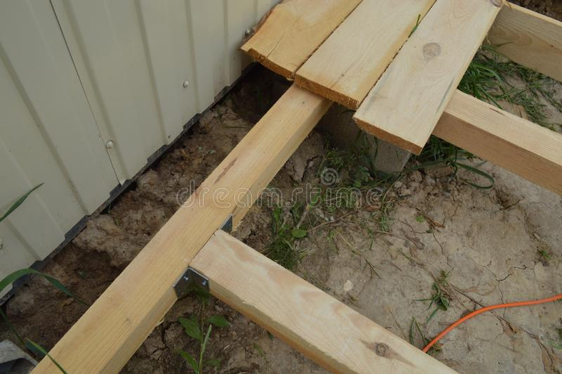 Wooden construction and the units royalty free stock photos