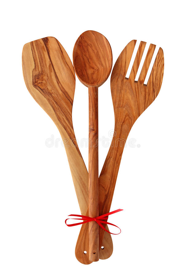 Free Wooden Cooking Utensils Royalty Free Stock Photography - 13597897