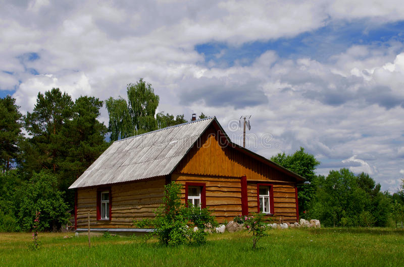 Wooden country house stock photography
