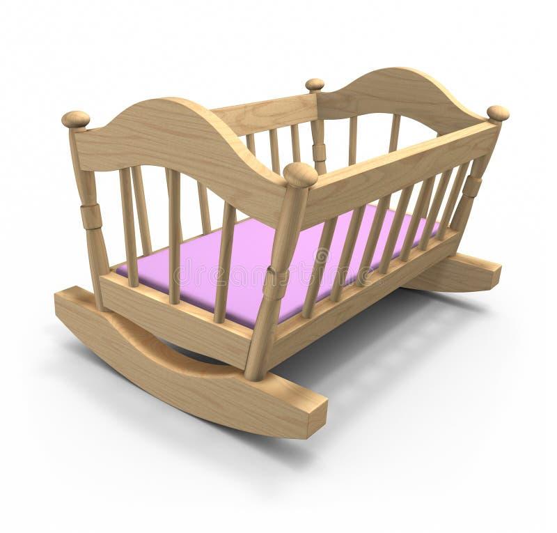 Download Wooden cradle stock illustration. Image of illustration - 10626732