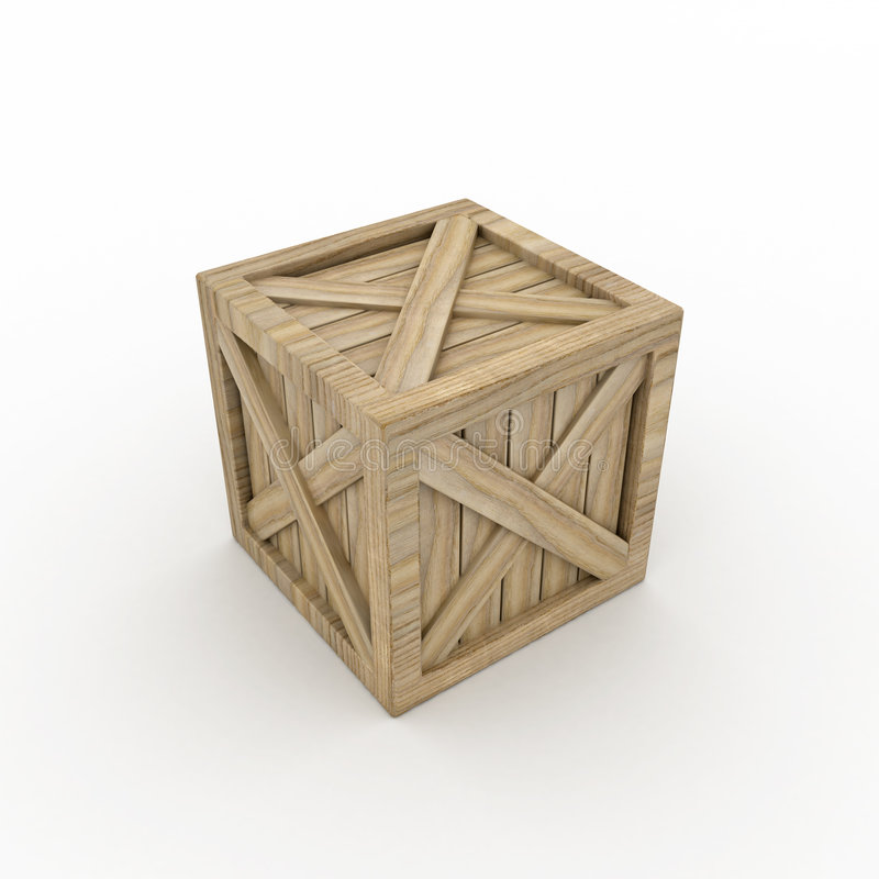 Download Wooden Crate stock illustration. Image of square, cutout - 8917979
