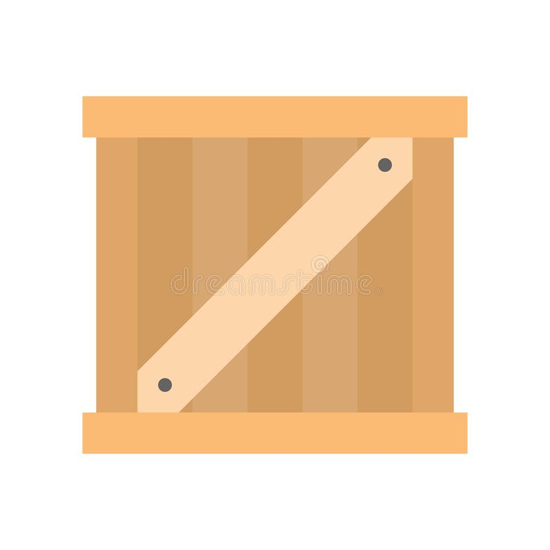 Wooden crate box, Flat icon shipping delivery and logistic related stock illustration