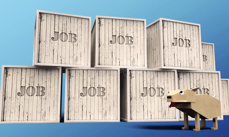 Download Wooden crates stock illustration. Image of contoured - 26586404