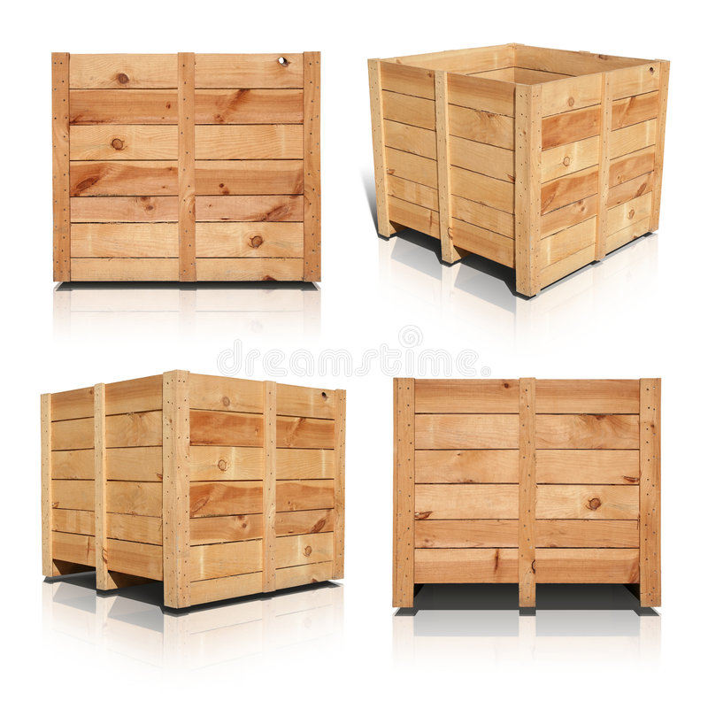 Free Wooden Crates Royalty Free Stock Image - 6170016