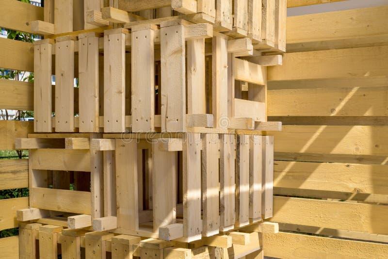 Wooden crates stock photo