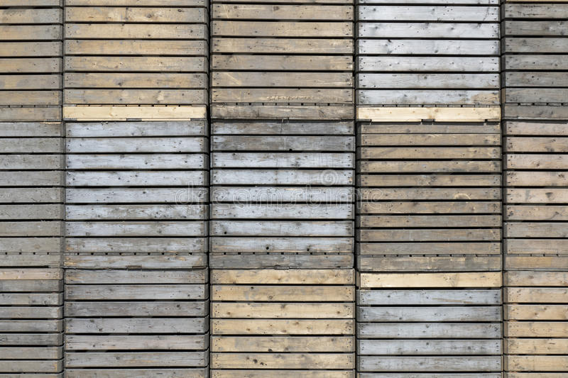 Wooden crates. Wooden crates stacked in Sint-Nicolaasga, Netherlands royalty free stock photography