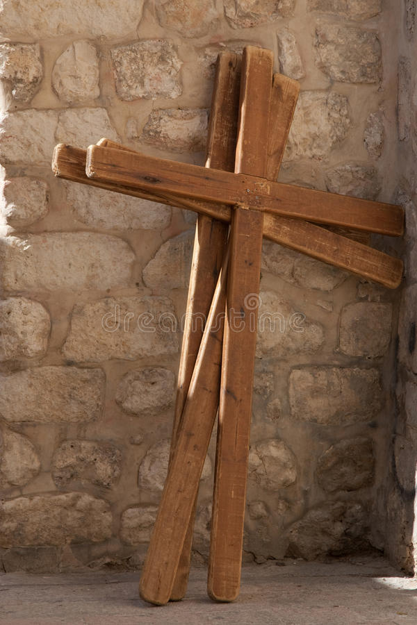 Wooden crosses stock photography