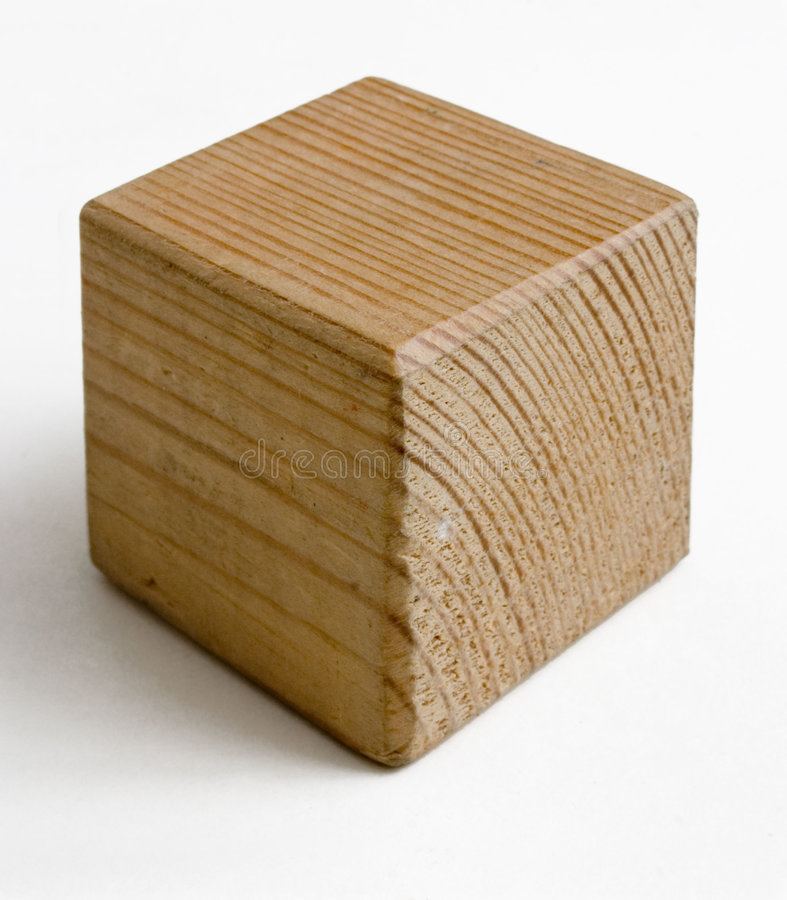 Wooden cube stock image