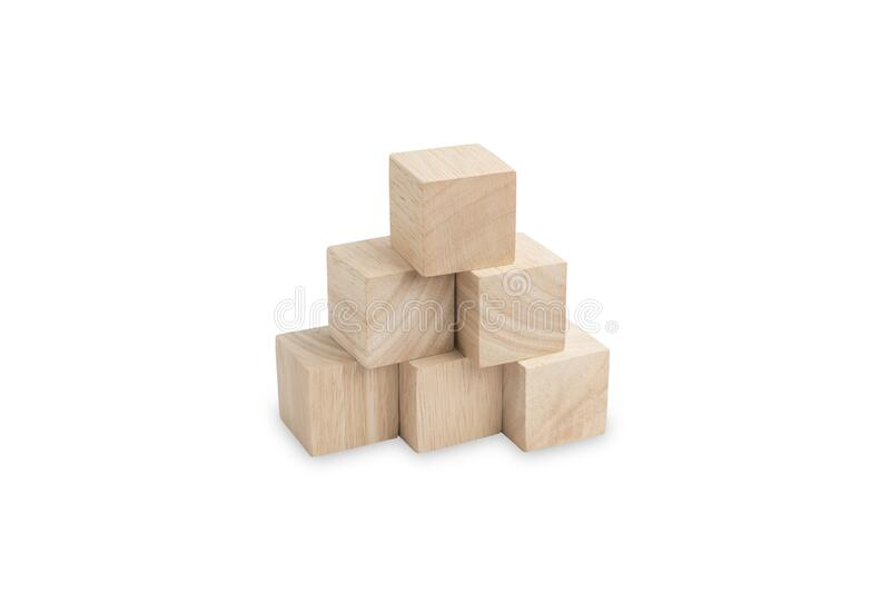 Wooden cube blocks with beautiful wood abstract textured stock photos