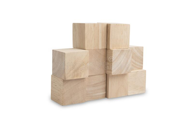 Wooden cube blocks with beautiful wooden textured stock photography