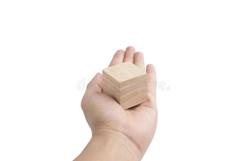 Wooden cube blocks with beautiful wooden textured royalty free stock photo