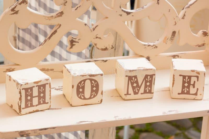 Download Wooden Cube Decoration: Home Letters Stock Illustration    Illustration Of Design, Block: