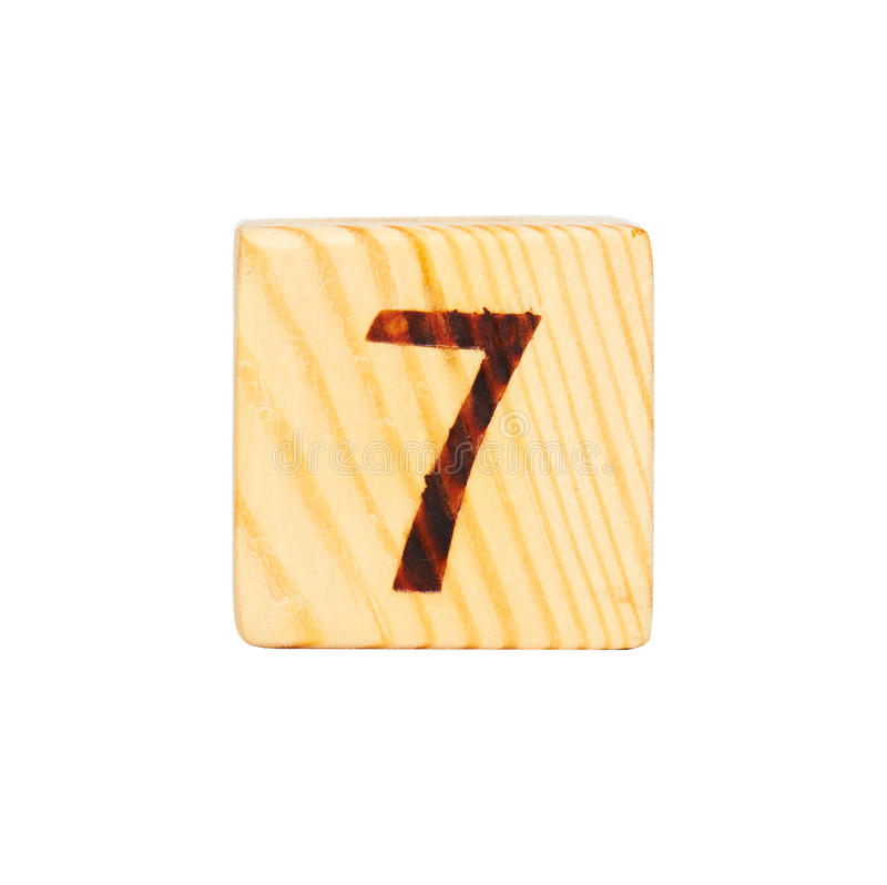 Wooden cube with the number