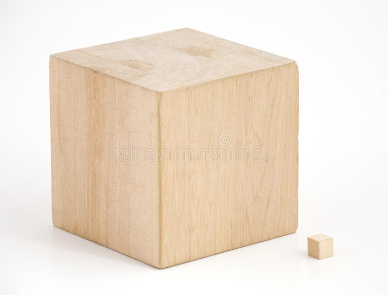 Wooden cubes. stock image