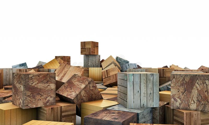 Download Wooden cubes stock illustration. Image of block, assembly - 28826058