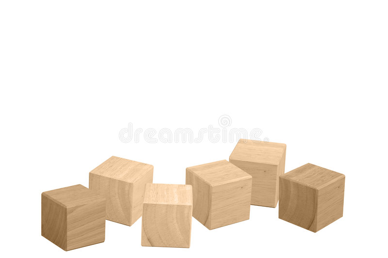 Wooden Cubes Royalty Free Stock Photography