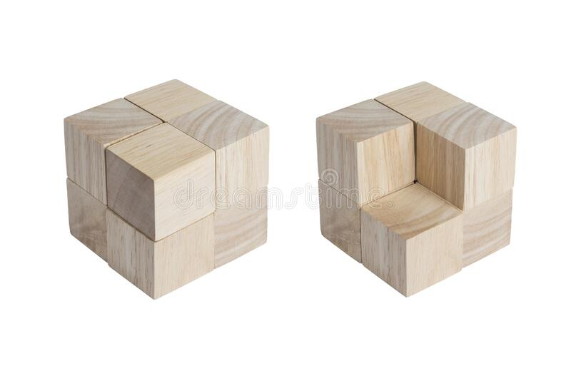 Wooden cubes with beautiful wooden textured stock photos